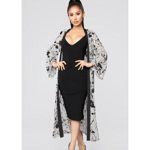 Fashion nova in the shadows kimono